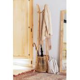 Groll Rattan Coat Rack with Basket, thumbnail image 1