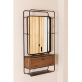 Rectangular Wall Mirror with Wooden Metal Drawer (99x50 cm) Oyan, thumbnail image 2