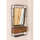 Rectangular Wall Mirror with Wooden Metal Drawer (99x50 cm) Oyan, thumbnail image 3