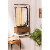 Rectangular Wall Mirror with Wooden Metal Drawer (99x50 cm) Oyan, thumbnail image 1