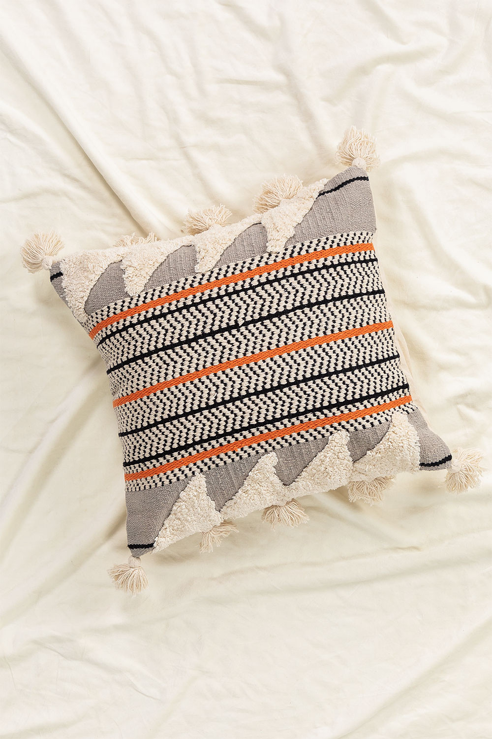 Square Cotton Cushion (50x50 cm) Kema, gallery image 1