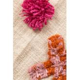 Plaid Cotton Pom Blanket, thumbnail image 4