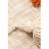 Plaid Cotton Pom Blanket, thumbnail image 5