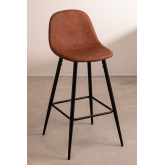 Pack 2 High Stools in Leatherette Glamm, thumbnail image 1