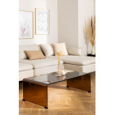 Transparent Glass Coffee Table (110x55 cm) Crhis, thumbnail image 1