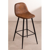 Pack 4 High Stools in Leatherette Glamm, thumbnail image 1