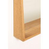 Rectangular Wall Mirror with MDF Shelf (50x80 cm) Nurah, thumbnail image 3