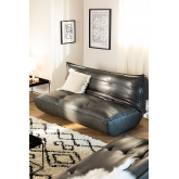 2 Seater Sofa Bed in Mati Leatherette, thumbnail image 1