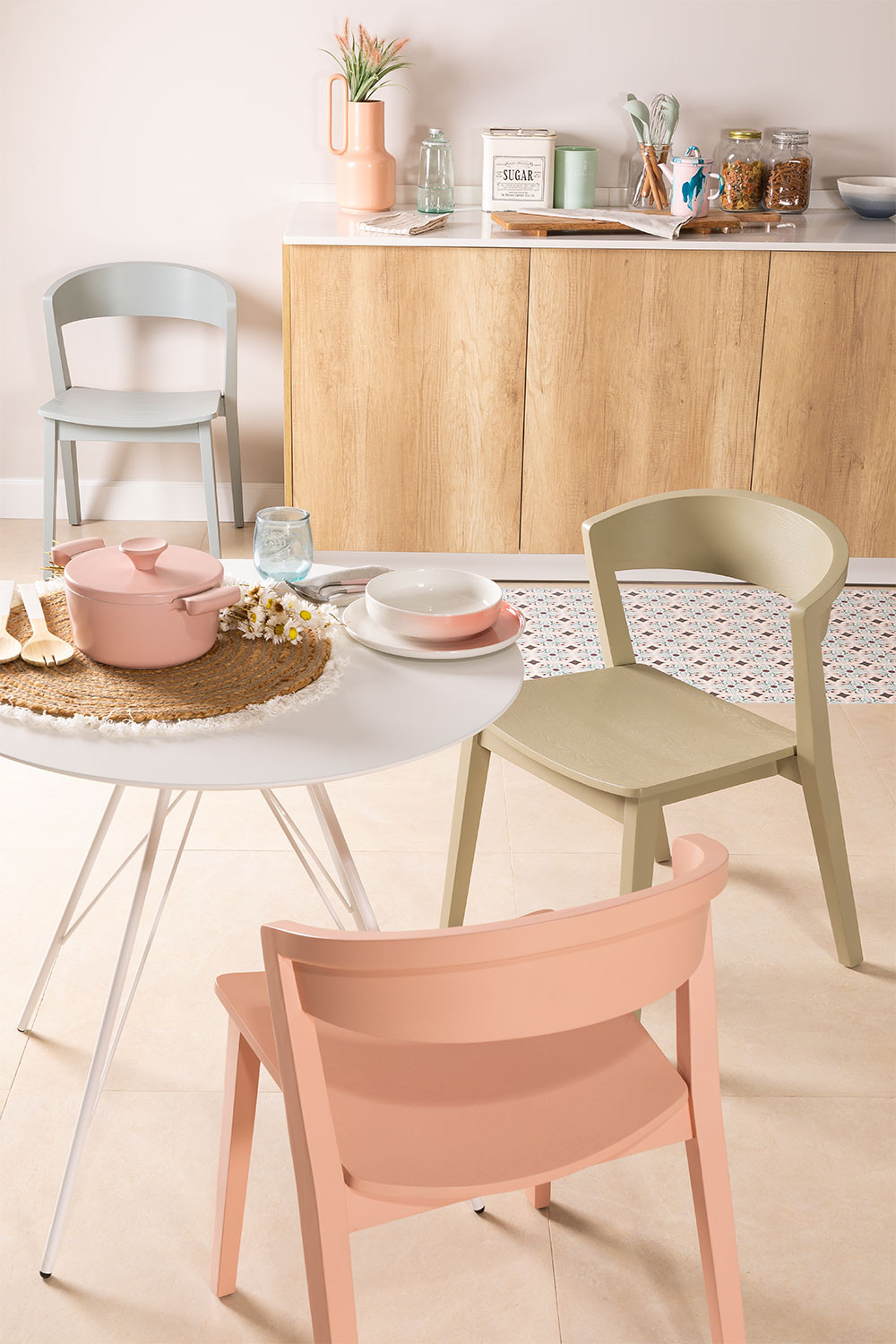 Stackable Wooden  Chair  Ginger, gallery image 1