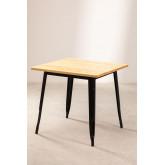 Wooden LIX Table (80x80), thumbnail image 1