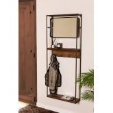 Combined Hallway Shelf- Coat Rack & Mirror  Nosq , thumbnail image 1