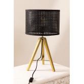 Rattan & Metal Table Lamp Megal , thumbnail image 2