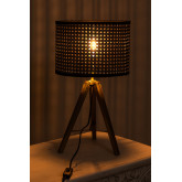 Rattan & Metal Table Lamp Megal , thumbnail image 3