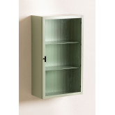 Vertical Metal and Glass Wall Cabinet, thumbnail image 2