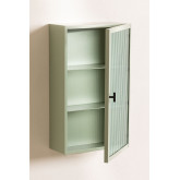 Vertical Metal and Glass Wall Cabinet, thumbnail image 3