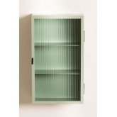 Vertical Metal and Glass Wall Cabinet, thumbnail image 4