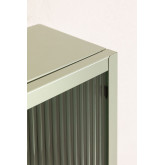 Vertical Metal and Glass Wall Cabinet, thumbnail image 5