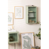 Vertical Metal and Glass Wall Cabinet, thumbnail image 1