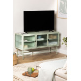 Metal and Glass TV Cabinet Vertal, thumbnail image 1