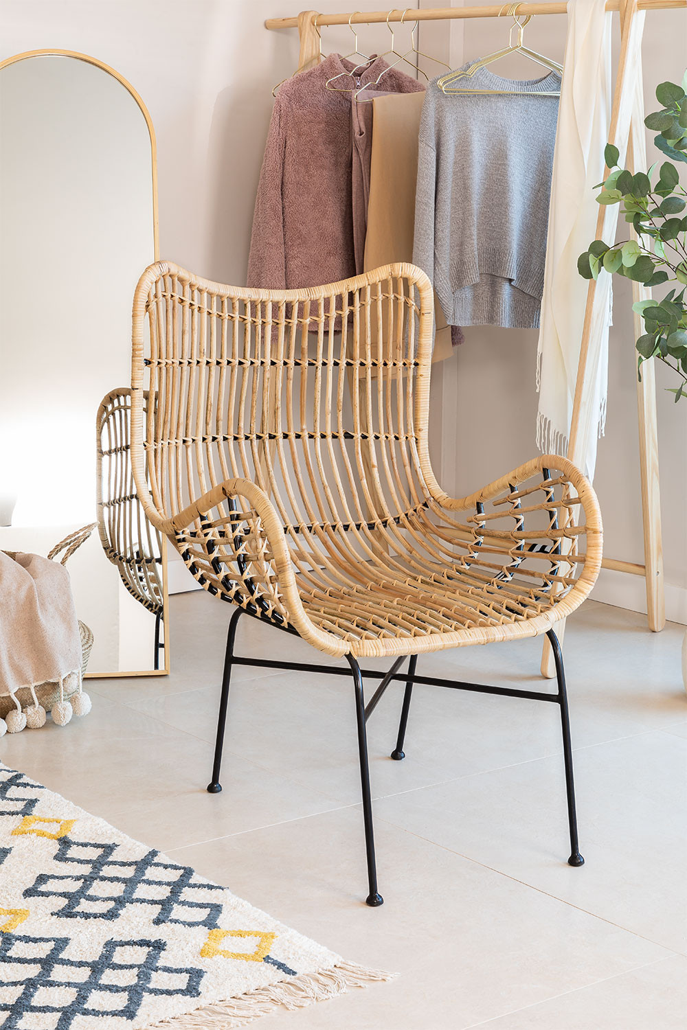 Chair in Rattan Domba, gallery image 1