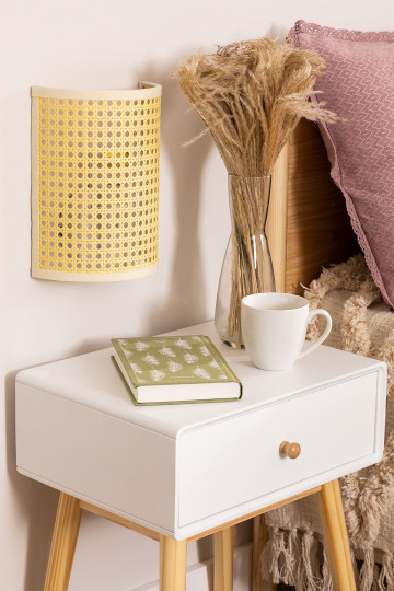 Wall Sconce in Rattan Sety