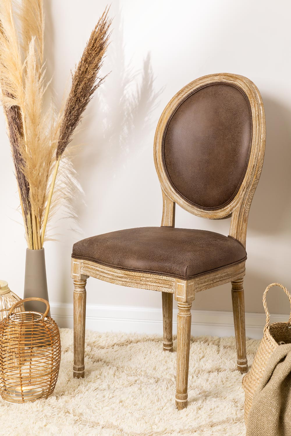 Sunna Leatherette Dining Chair, gallery image 1