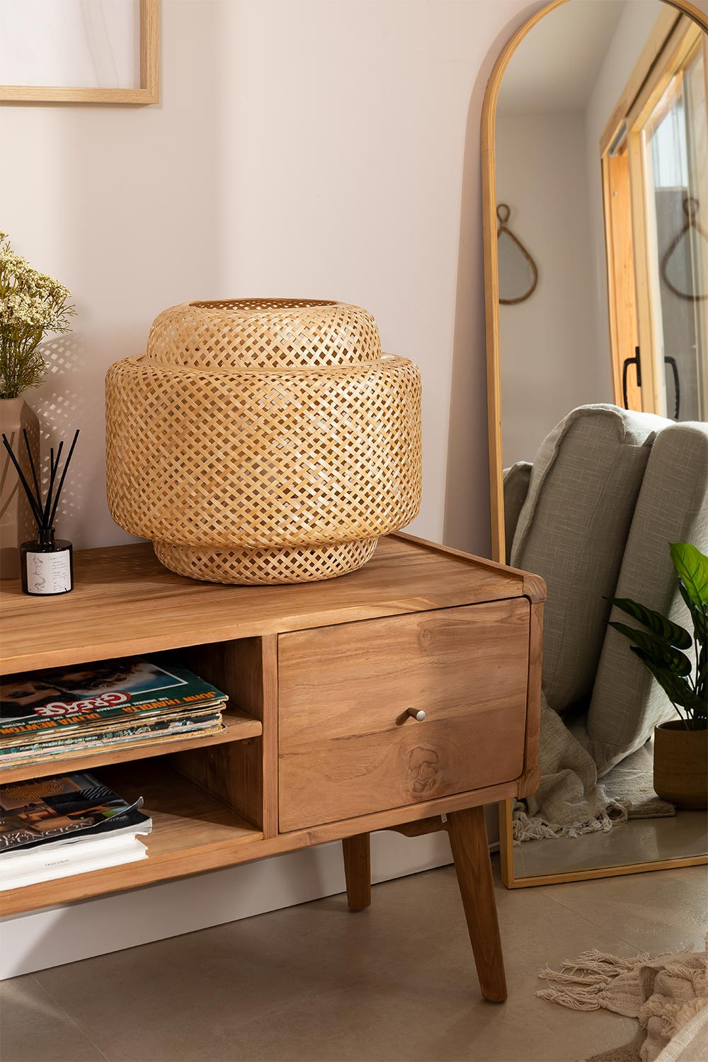 Lexie Bamboo Table Lamp, gallery image 1