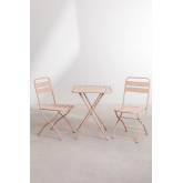 Garden  Set  Foldable Table (60x60 cm) & 2 Foldable Chairs Janti , thumbnail image 2