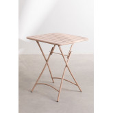 Garden  Set  Foldable Table (60x60 cm) & 2 Foldable Chairs Janti , thumbnail image 3