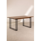 Rectangular Dining Table in Mango Wood (150x90 cm) Betu , thumbnail image 2