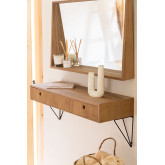 Ash Wood Hall Receiver  80 cm  with Drawer  Glai , thumbnail image 1