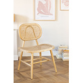 Wooden Dining Chair Leila Elm , thumbnail image 1