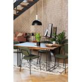 Rectangular Dining Table in Mango Wood (150x90 cm) Betu , thumbnail image 1
