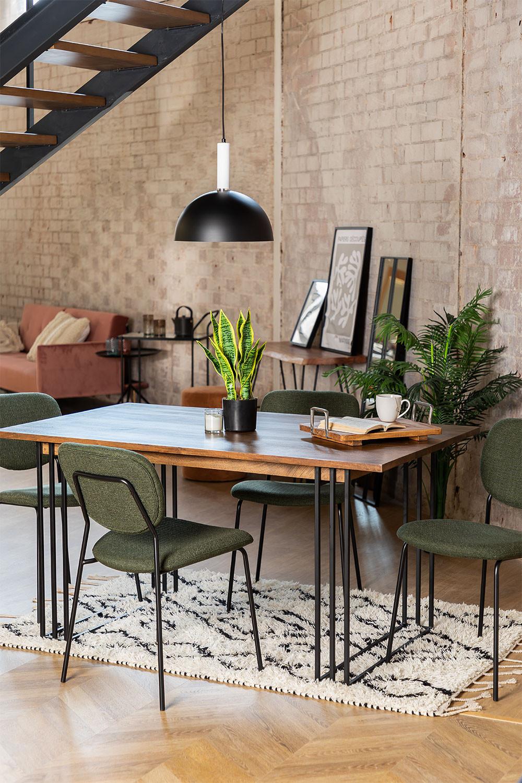 Rectangular Dining Table in Mango Wood (150x90 cm) Betu , gallery image 1
