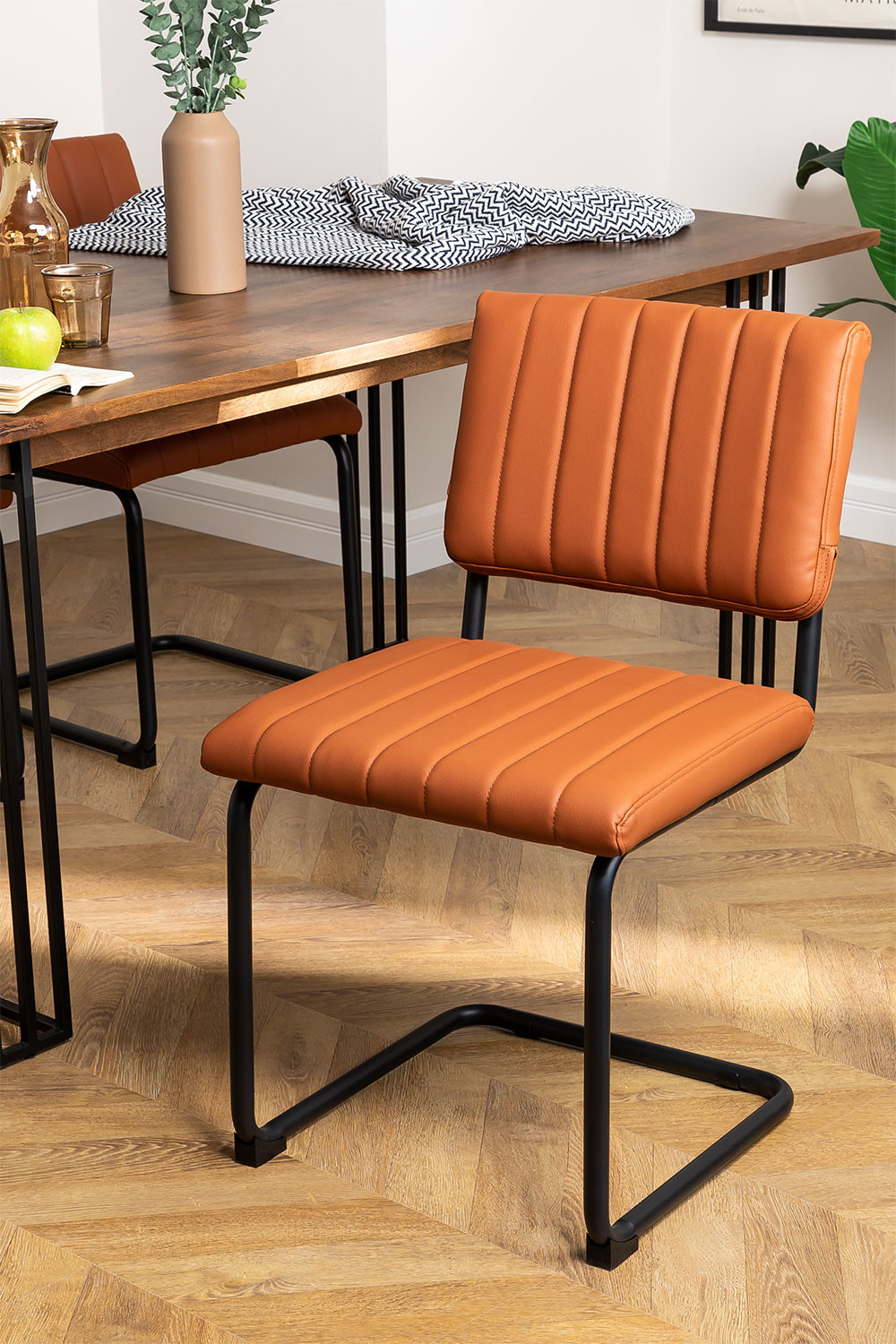 Orwell Leatherette Dining Chair, gallery image 1