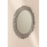 Round Wall Mirror in Macrame (Ø70 cm) Gael, thumbnail image 1