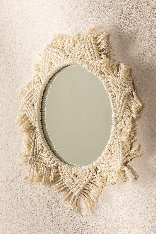 Macrame Wall Mirror Didier, gallery image 1