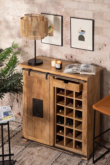Wooden Wine Rack Cabinet Uain