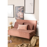 2 Seater Velvet Sofa Bed Elen, thumbnail image 1