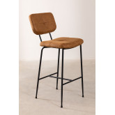 High Stool with Back in Leatherette Ospi, thumbnail image 2