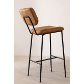 High Stool with Back in Leatherette Ospi, thumbnail image 3