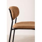 Leatherette High Stool with Backrest Abix, thumbnail image 3