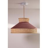 Ceiling Lamp in Velvet and Rattan Xanti, thumbnail image 3