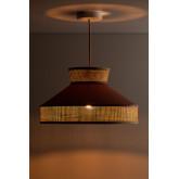 Ceiling Lamp in Velvet and Rattan Xanti, thumbnail image 4