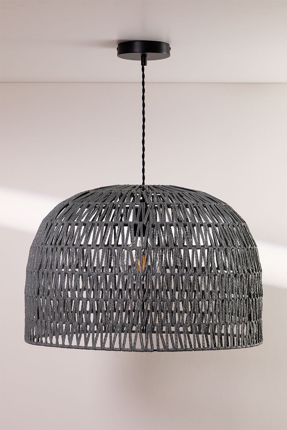 Mylo Twisted Paper Ceiling Lamp, gallery image 1