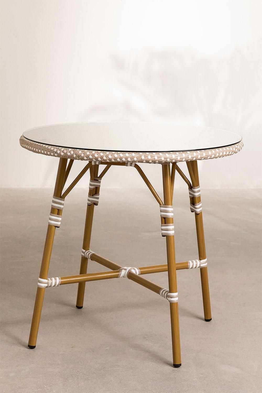 Synthetic Wicker  Round Garden Table Alisa (Ø80 cm) , gallery image 1