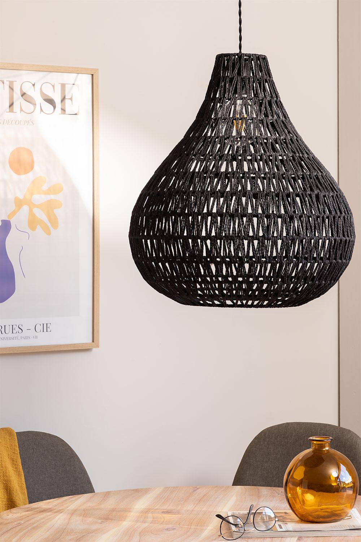 Nok Braided Paper Ceiling Lamp, gallery image 1
