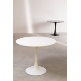 Round Dining Table in MDF and Metal Tuhl Style, thumbnail image 6