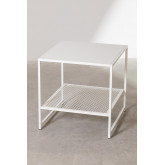 Square Side Table in Steel with Grid (50.8x50.8 cm) Thura, thumbnail image 1
