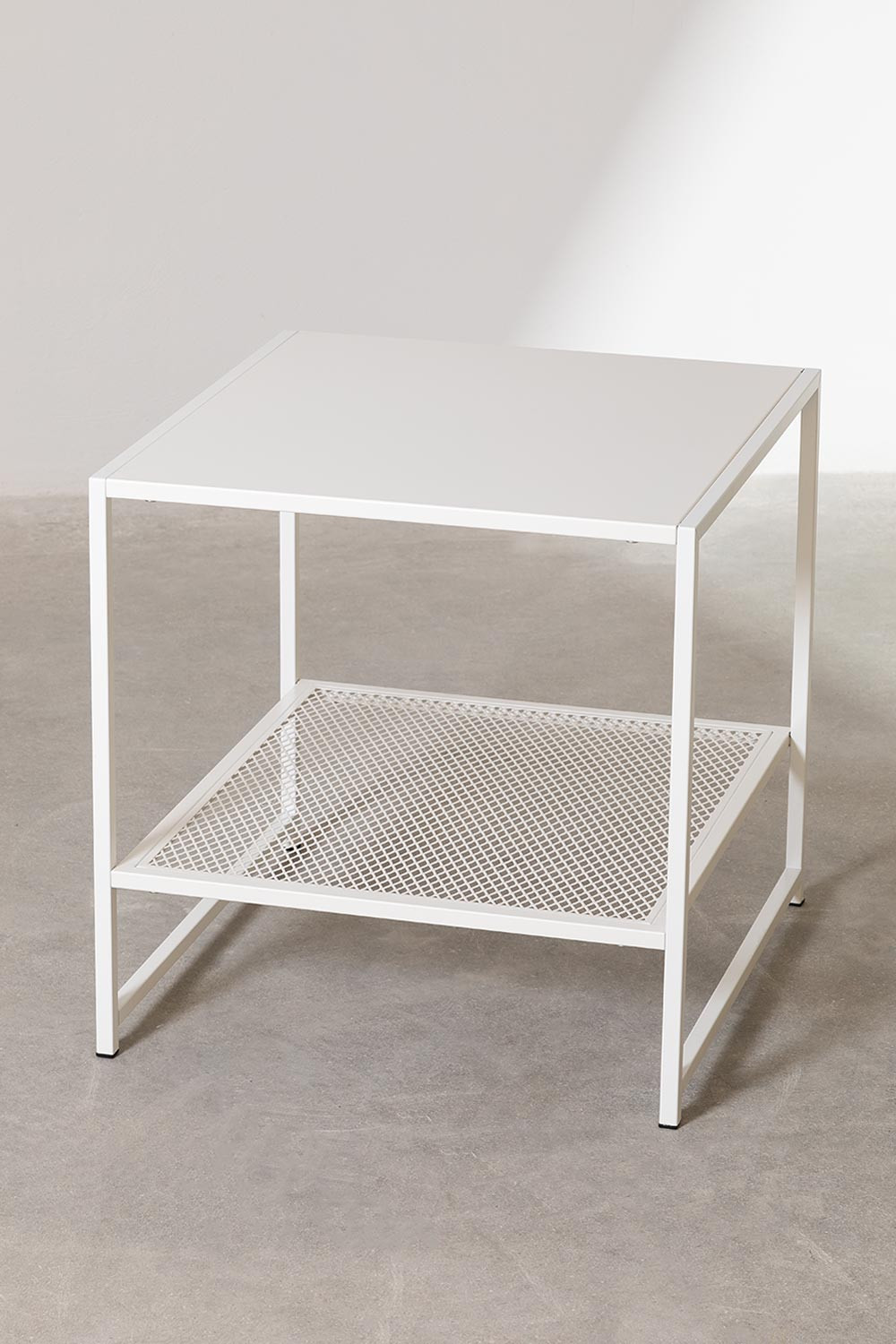 Square Side Table in Steel with Grid (50.8x50.8 cm) Thura, gallery image 1
